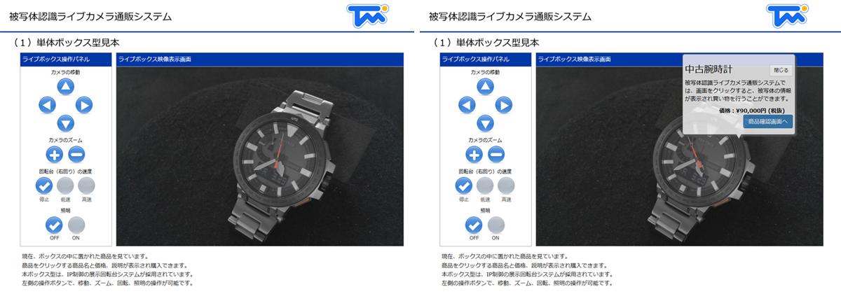 ボックス型・展示回転台システム型画面イメージ