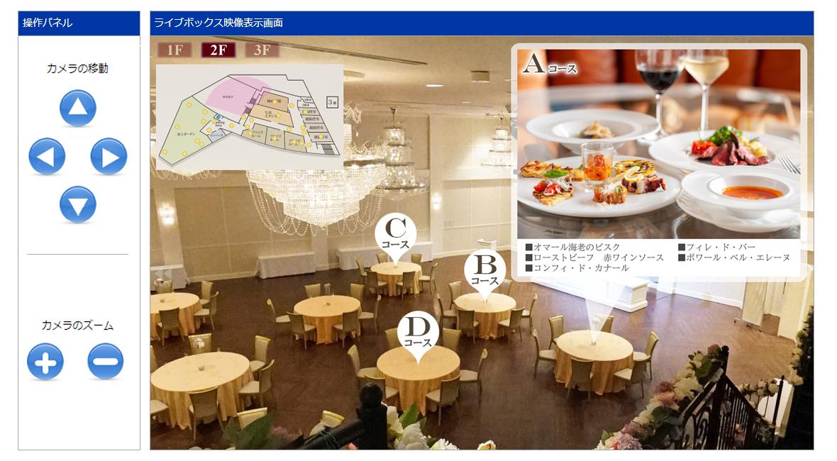 ライブカメラ施設案内システムLiveActionのイメージ写真